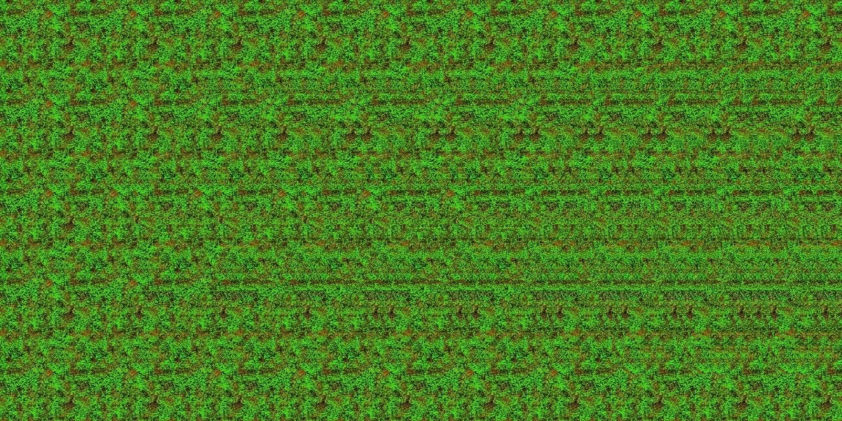 Autostereogram with hidden 3D image